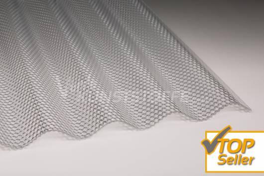 Polycarbonat Welle 76/18 klar Wabenstruktur hagelsicher