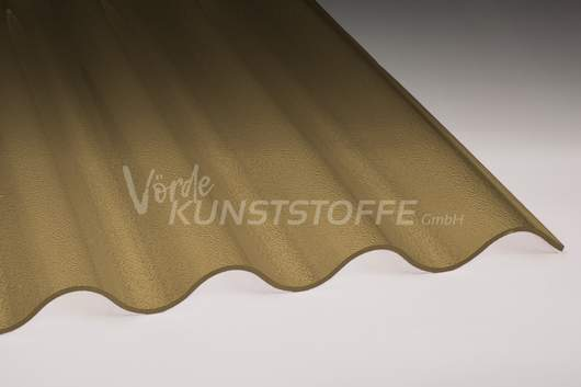 Acrylglas Wellplatten 76/18 bronze C-Struktur