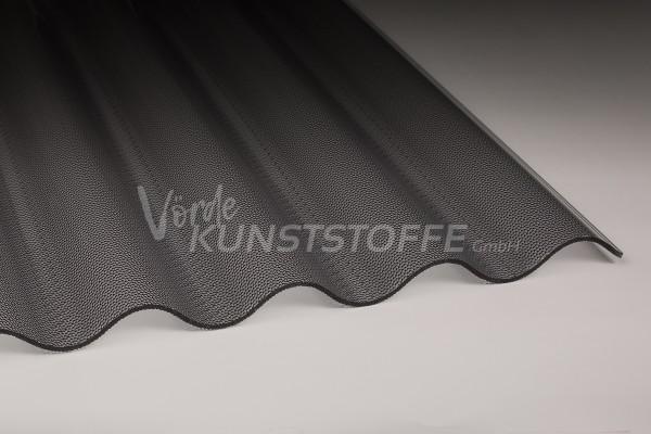 Acrylglas Wellplatten 76/18 graphit Perle