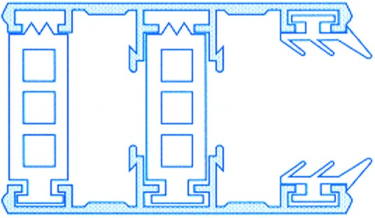 Alu-Thermo-Randsystem für 25mm Stegplatten