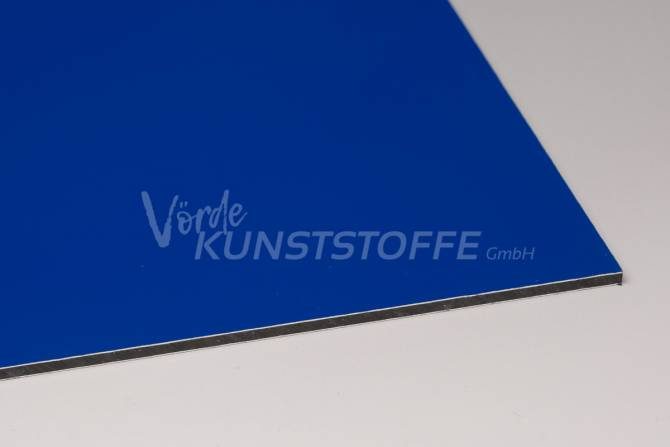 Alu-Verbundplatten 3 mm blau