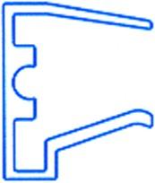 Alu-Tropfkantenprofil für 16mm Stegplatten