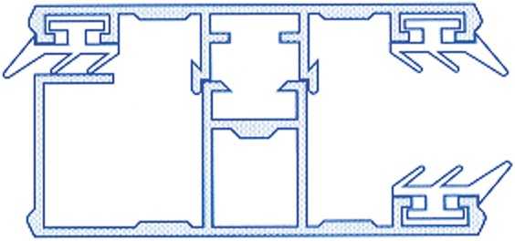 Alu-Randkomplettsystem für 16mm Stegplatten