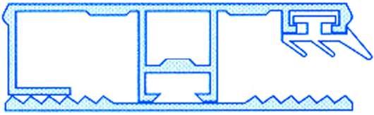 Alu-Stegrandsystem für 10 mm Stegplatten