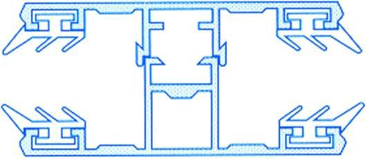 Alu-Komplettmittelsystem für 10mm Doppelstegplatten