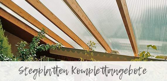 Stegplatten Komplettsets - die gute Lösung für den schnellen Aufbau