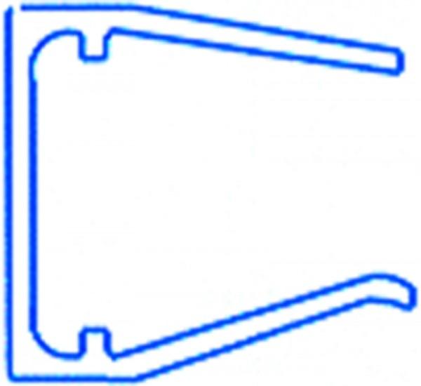 Alu-Abschlussprofil für 16mm Doppelstegplatten