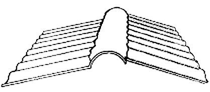 PVC Firstprofil für Wellplatten 76/18 2-teilig