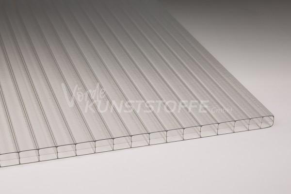 Stegplatten Polycarbonat 3-Fach Innenstruktur farblos (16mm)