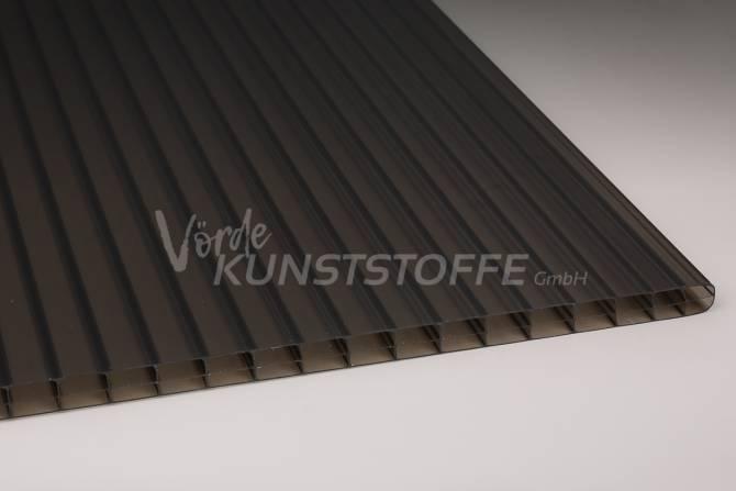 Muster Stegplatten Polycarbonat 16mm 3-Fach bronze