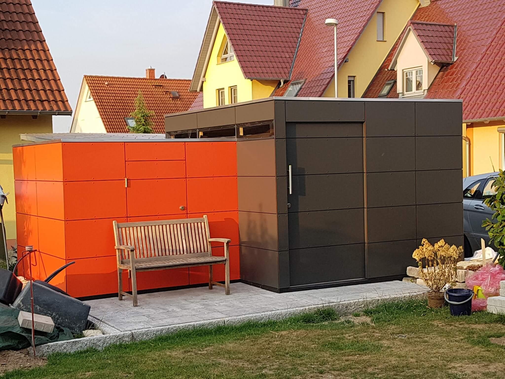 Individuelle Fassade Furs Gartenhaus Mit Hpl Platten Bauen Vorde