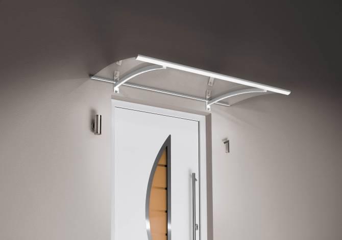 Pultvordach PT/LED weiß - 1500x900x220mm