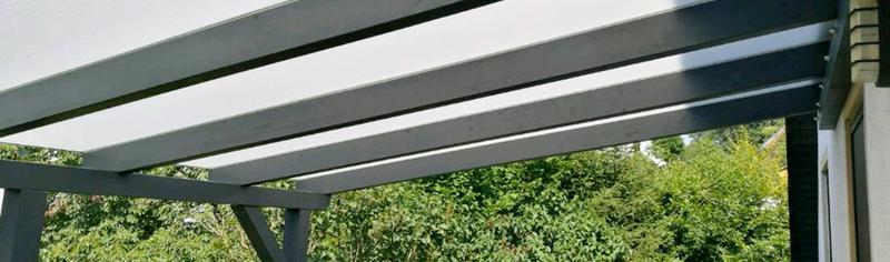 Doppelstegplatten bei einer Terrassenüberdachung