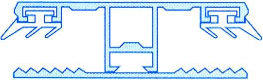 Alu-Stegmittelsystem für 10mm Stegplatten