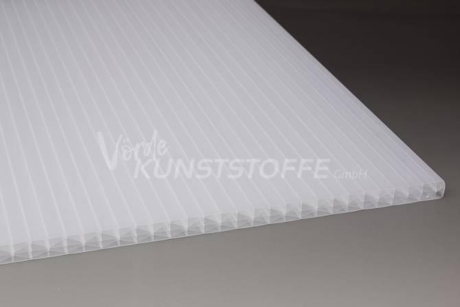Muster Stegplatten Polycarbonat 16mm IQ-Relax weiss-opal