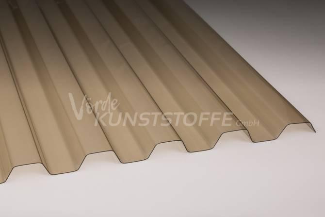 Ondex® HR Trapezplatten Lichtplatten 70/18 bronze hagelsicher