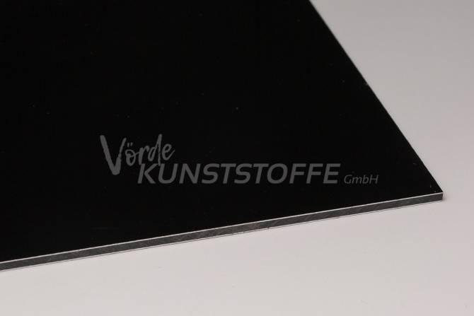 Alu-Verbundplatten 3 mm schwarz