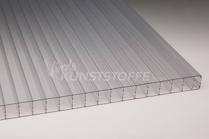 Stegplatten Polycarbonat farblos 25mm Stegfünffach