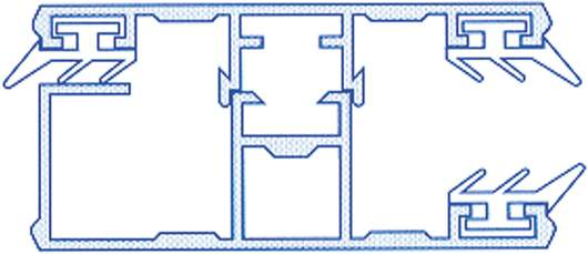 Alu-Randkomplettsystem für 10mm Doppelstegplatten