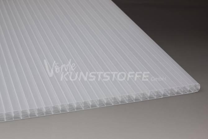 Muster Stegplatten Polycarbonat 16mm X-Struktur weiss-opal