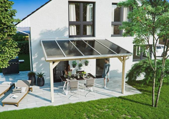 Terrassendach inkl. Holz-Unterkonstruktion