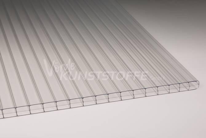 Stegplatten Polycarbonat 3-Fach farblos 16mm