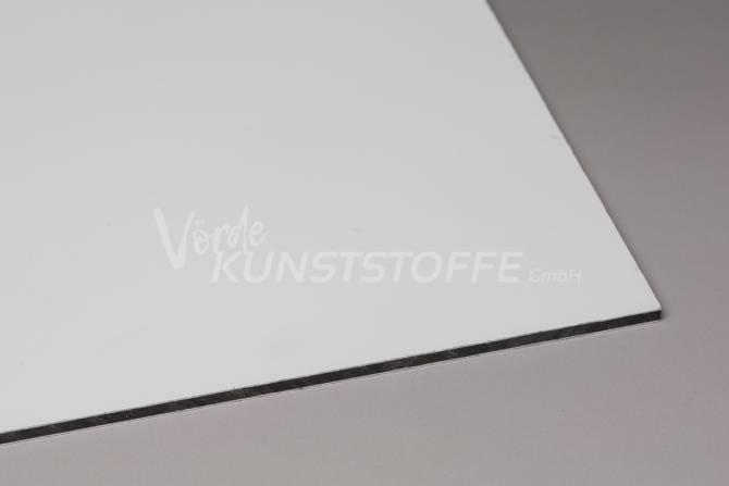 Alu-Verbundplatten weiß matt/matt 2mm