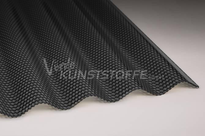 Acrylglas Wellplatten 76/18 graphit Wabenstruktur