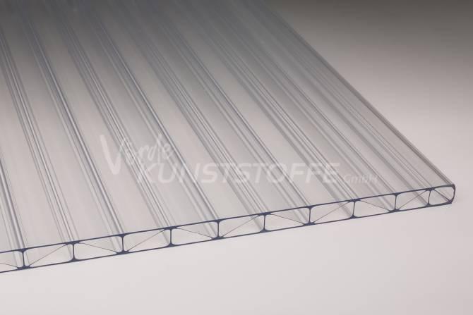 Stegplatten Acrylglas Polycarbonat 16/32 farblos 16mm