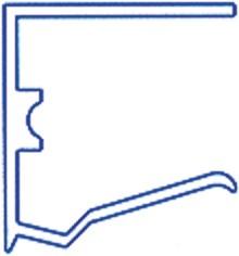 Alu-Abschlussprofil für 32mm Stegplatten