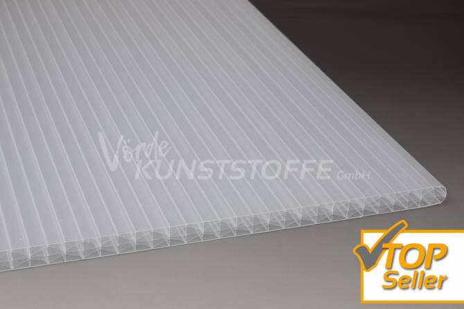 Stegplatten X-Struktur weiß-opal
