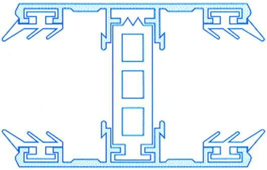 Alu-Thermo-Mittelsystem für 32mm Stegplatten