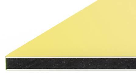 Alu-Verbundplatten 3 mm gelb