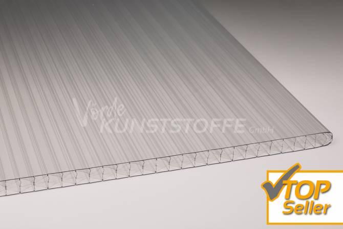 Muster Stegplatten Polycarbonat farblos 16mm X-Struktur
