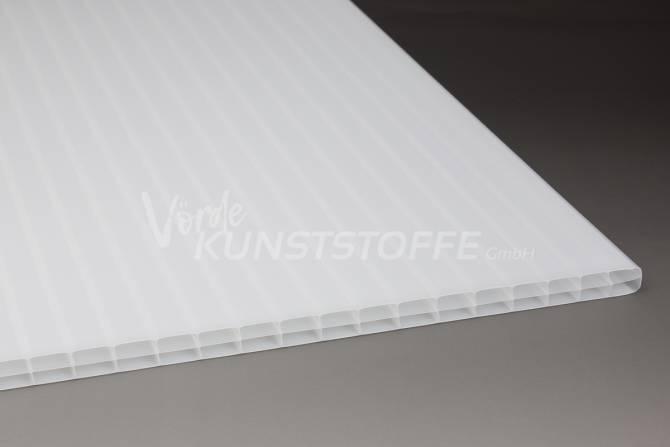 Stegplatten Polycarbonat 3-Fach weiss-opal (16mm)