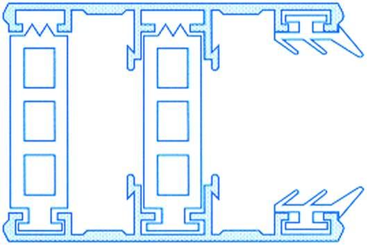 Alu-Thermo-Randsystem für 32mm Stegplatten