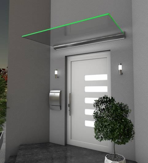 Echtglasvordach LED - 1600x1000x135mm