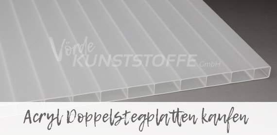 Doppelstegplatten aus hochwertigem Acrylglas für dauerhafte, schöne Überdachungen