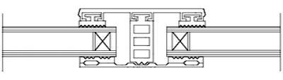 Mittelsystem für 26mm Isoglas - Breite 80mm
