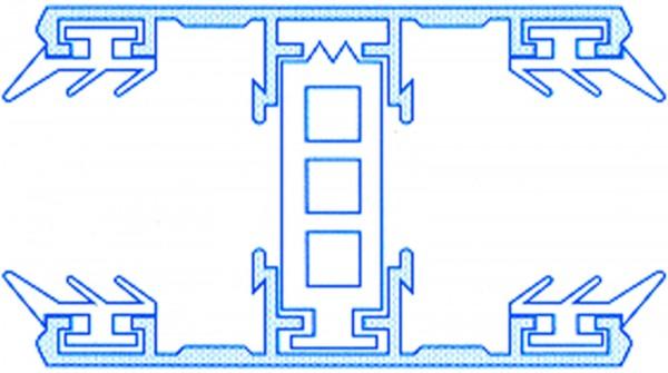 Alu-Thermo-Mittelsystem für 25mm Stegplatten